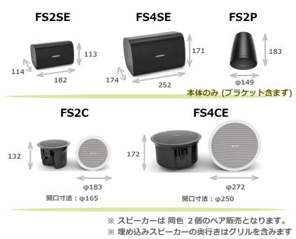 DSシリーズスピーカーサイズ