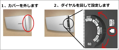 タップ切り替え方法