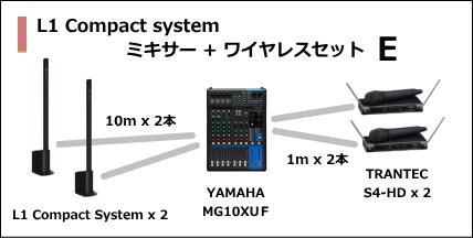 L1 Compact MIXER WIRELESS SET E