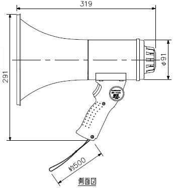 ER-1115S 寸法図1