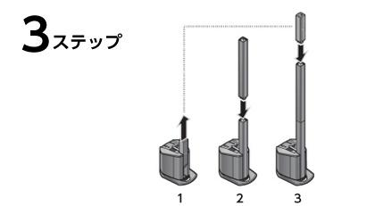 3ステップで組み立て可能