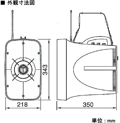 TWB-300 外径寸法図
