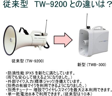従来型 TW-9200 との違いは?