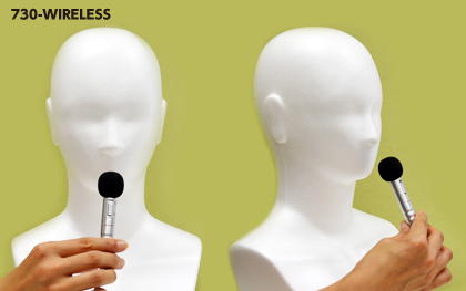 無線タイプ エペルホン ワイヤレス 付属有線マイク使用イメージ