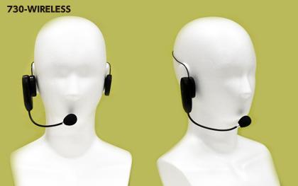 無線タイプ エペルホン ワイヤレス マイク装着:ヘッド