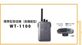 TOA 携帯型受信機 高性能型 PLLシンセサイザー方式 WT-1100