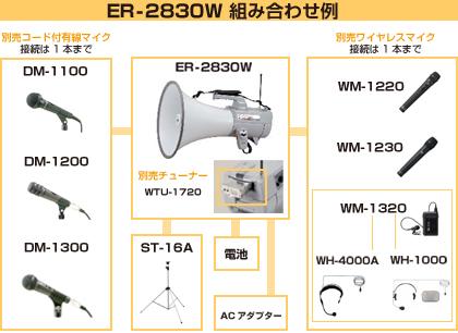 ER-2830W 組み合わせ例