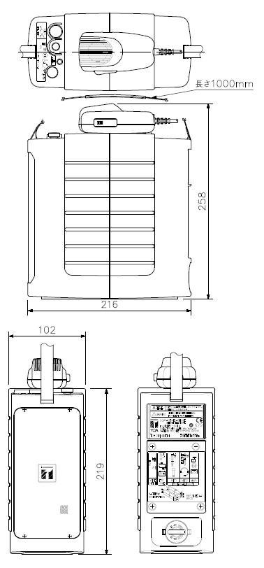 ER-604W 製品寸法図