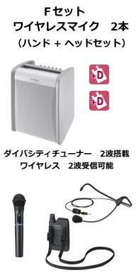 JVC ワイヤレスアンプ ダイバシティ Fセット