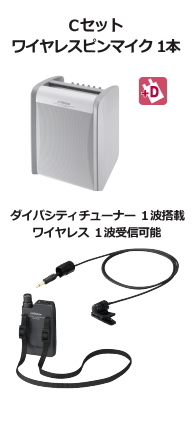 JVC ワイヤレスアンプ ダイバシティ Cセット