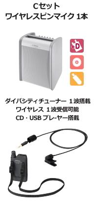 JVC ワイヤレスアンプ ダイバシティ CD,USB付 Cセット